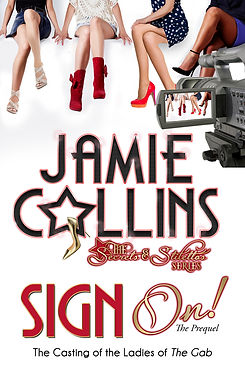 Book cover of Sign On! Four women in front of TV camera