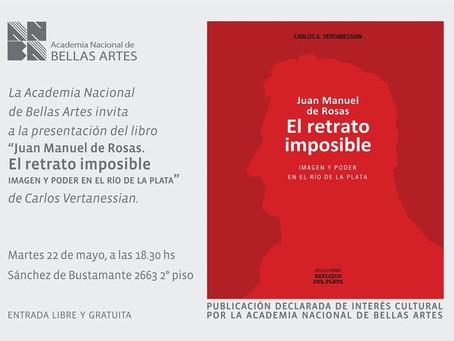 Presentación del libro en la Academia Nacional de Bellas Artes