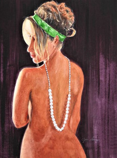 Dressed in Pearls and Green