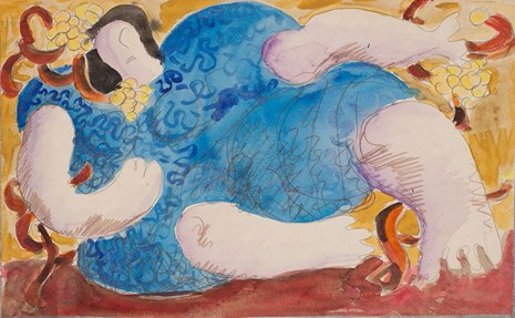 "eodoras Kazimieras Valaitis's ""Reclining woman dressed in blue,"" circa 1970"