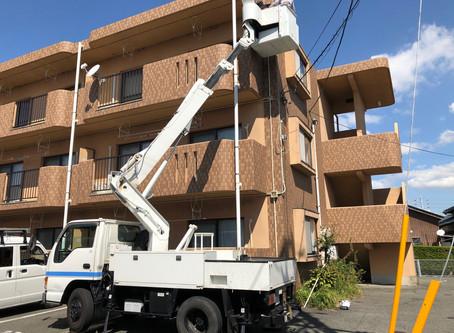 集合住宅向けインターネット設備「NEXTBroad」導入工事中