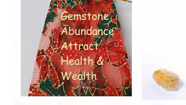 Stocking Fillers - Abundance Gemstone Kit supplied in Festive Gift bag