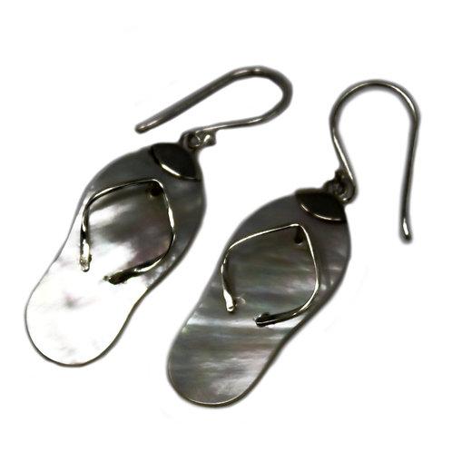 Shell & Silver Earrings - Sandels Free P&P