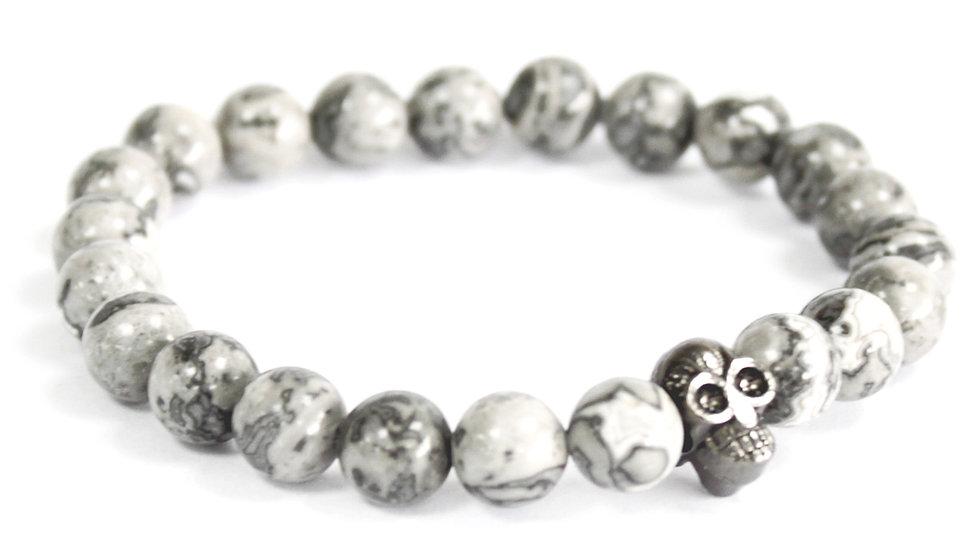 Howlite Bracelet White Stones