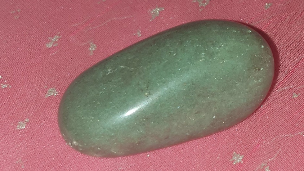 "Green Aventurine ""Money Magnet"" Large Tumblestone 2.5cm - 4.5cm"