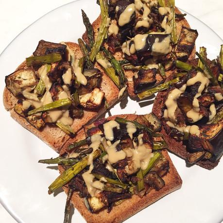 Veggie Tahini Toast