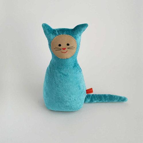 Katze  |  Blau Pannesamt