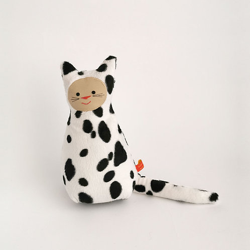 Kuh-Katze     schwarzweiß