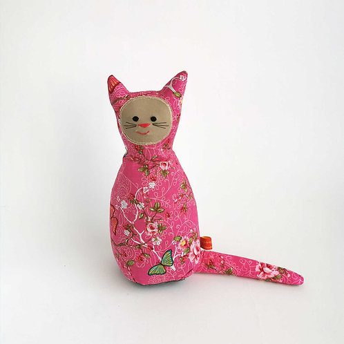 Blumen Katze  |  rosa
