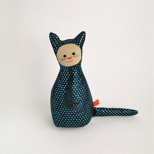 Glitzer Katze  |  Blau Pailetten