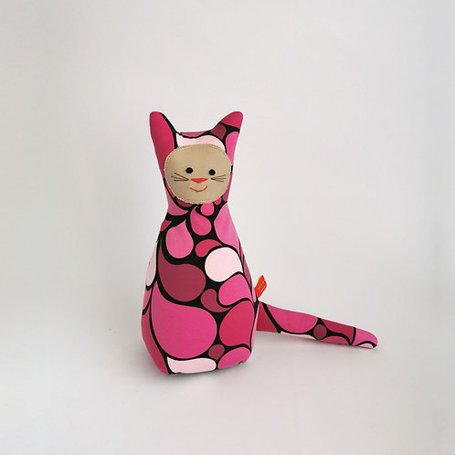 Retro Katze  |  rosa