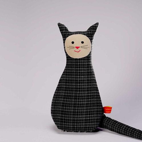 Katze  |  schwarz kariert