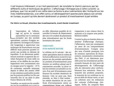 L'AFTE & Avant-Garde Investment - Placer sa trésorerie dans les certificats d'affacturage