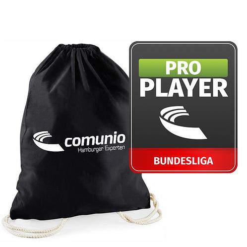Pro Player und Tragebeutel mit individuellem Aufdruck im Paket