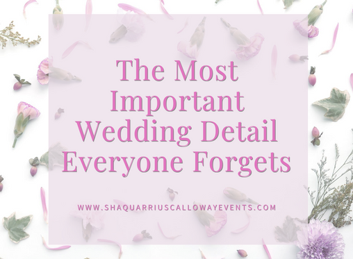 The Most Important Wedding Detail Everyone Forgets!