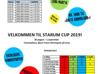Endelig, nå er påmeldingen til Starum Cup 2019 åpnet!
