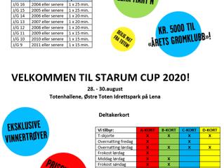 Endelig, nå er påmeldingen til Starum Cup 2020 åpnet!