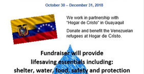 "HGSCA Embraces Venezuelan Refugees in Guayaquil and Partners with ""Hogar de Cristo"" in Gua"