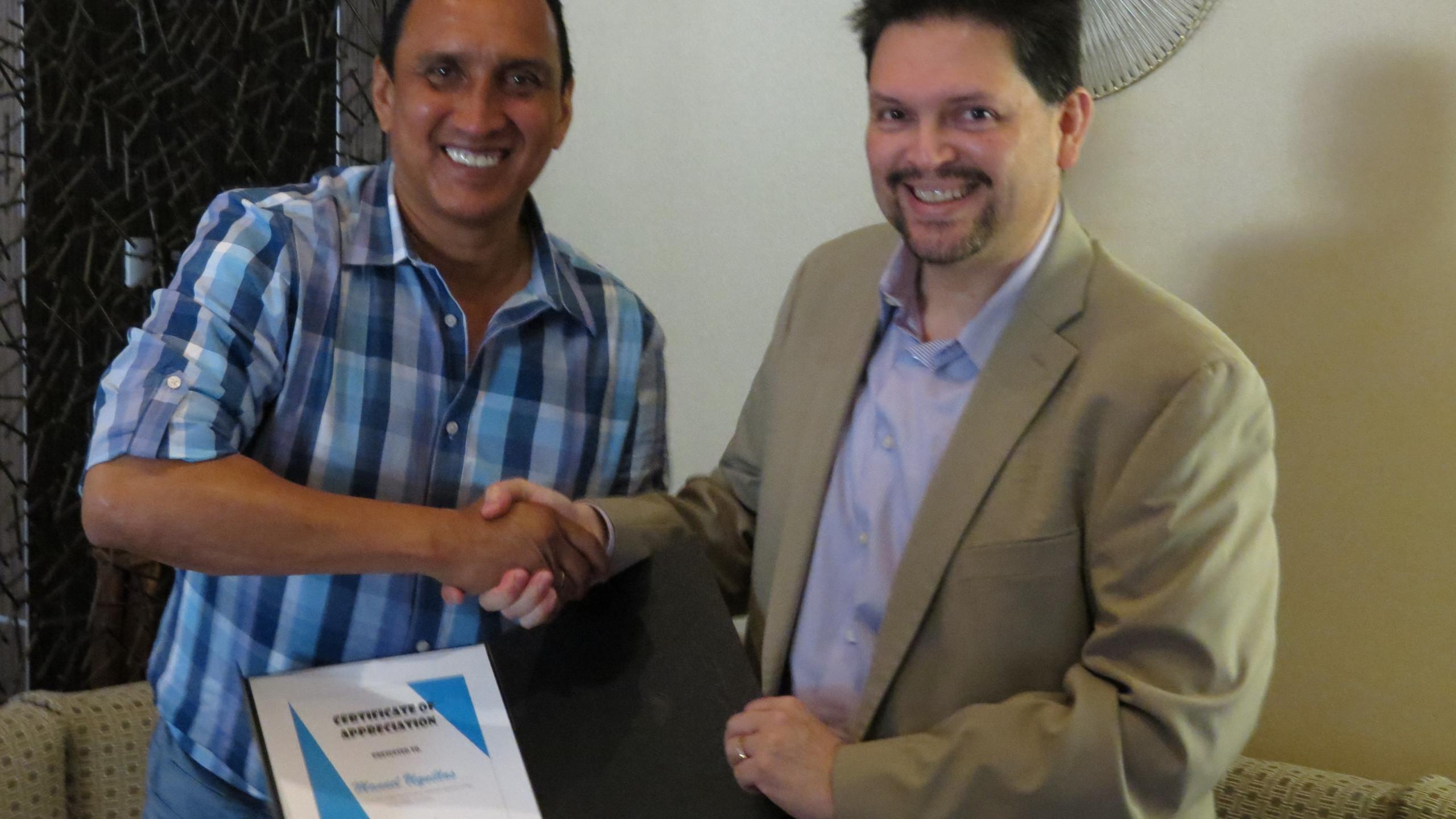 HGSCA recognition t- Manuel Uquillas