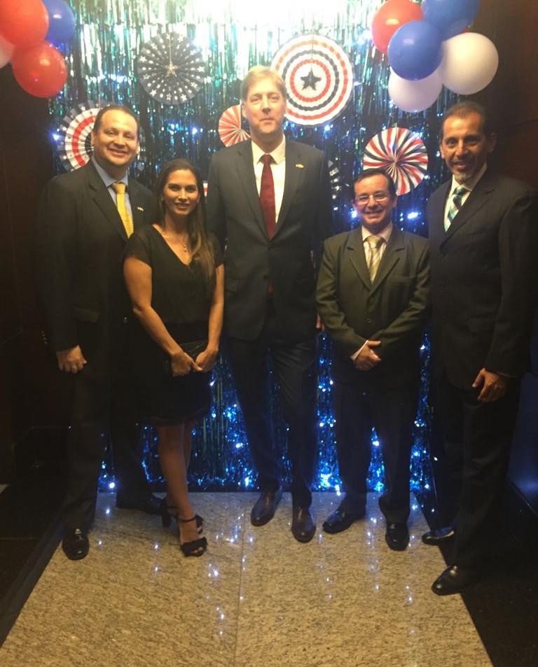 June 2018, Consul General of US in Guayaquil met HGSCA GYQ