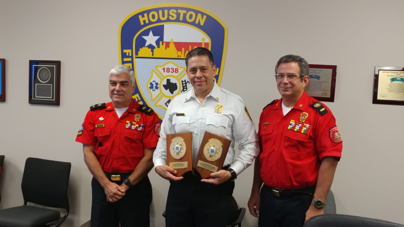 Recognition to Chief Pena from BCBG