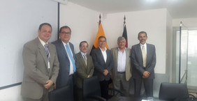 In Quito, Ecuador, Rice University, HGSCA, ESPOL, and a Representative from the United States Embass