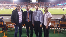 A Goodwill Visit to Houston from Manuel Uquillas, Guayaquil BSC Football Soccer Legend of the 90&#39