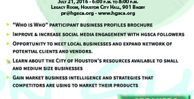 """Houston Guayaquil Sister City Association (HGSCA) announces its first """"Meet and Grow"""" Business Netwo"""