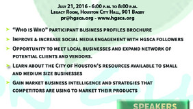 "Houston Guayaquil Sister City Association (HGSCA) announces its first ""Meet and Grow"" Business Netwo"
