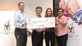 """HGSCA Donates $5,000 to """"Fundación Casa Ronald McDonald Ecuador"""""""