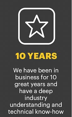 Vulcan 10 years in business