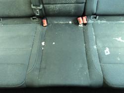 Before Vac and Steam Clean on Seats
