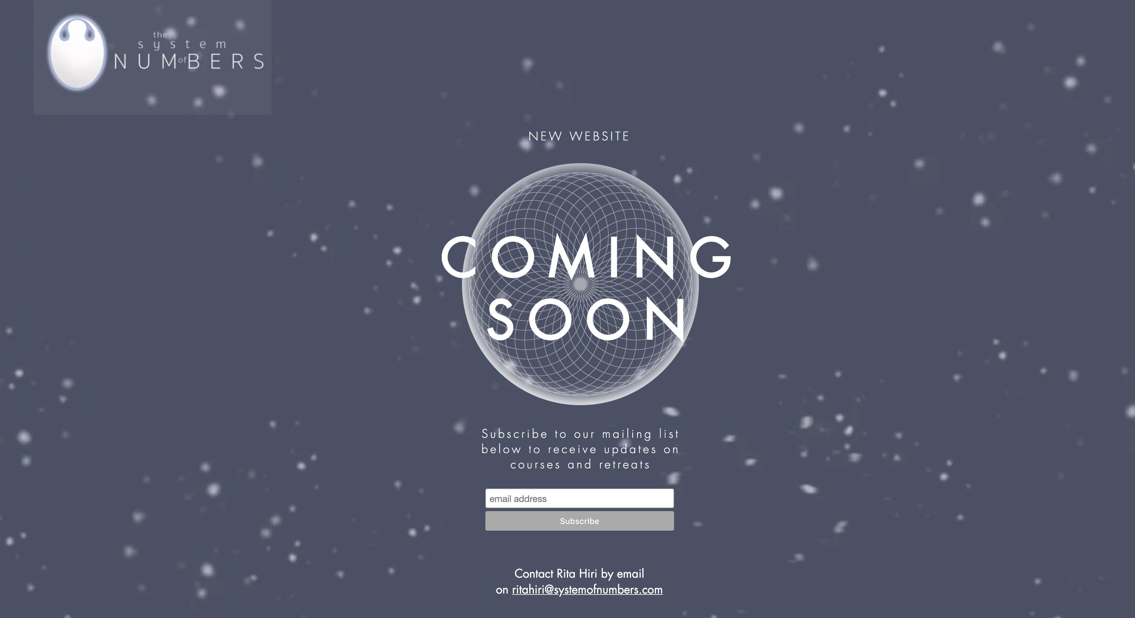 Website Coming Soon - Rita Hiri