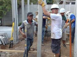 Chema and Jon Putting in a Column