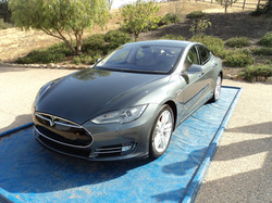 Tesla After Wash and Wax