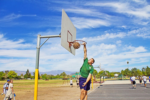 Playing Basketball in a drug rehab is a benefit of seeing treatment in California
