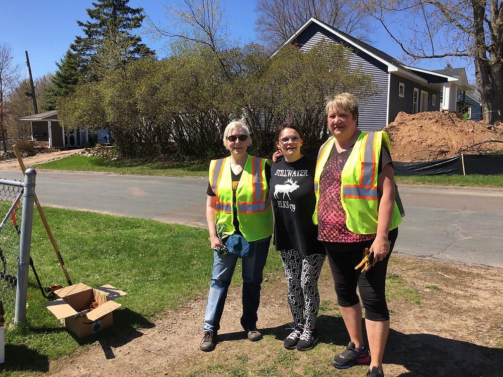 Maren Rosas, Sandra Gast, and Vicki Walsh