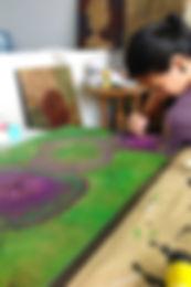 Cours de peinture acrylique. Acrylic painting lessons