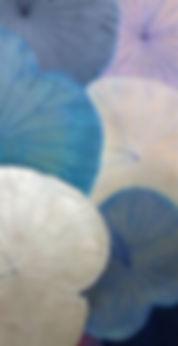 Peinture sur feuilles de lotus. Lotus leaf painting
