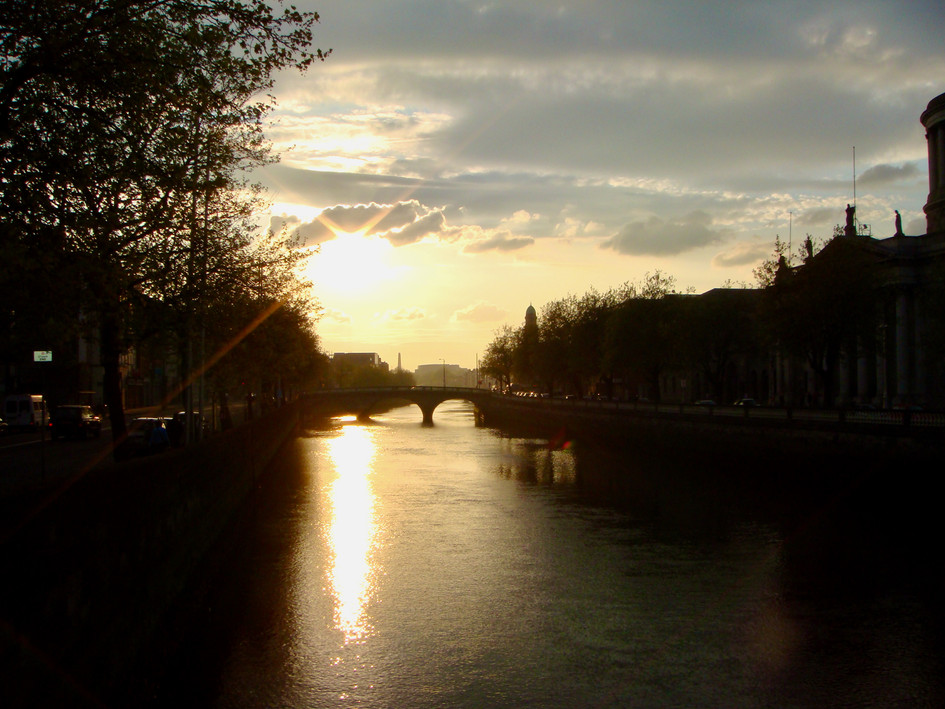 river liffey. dublin