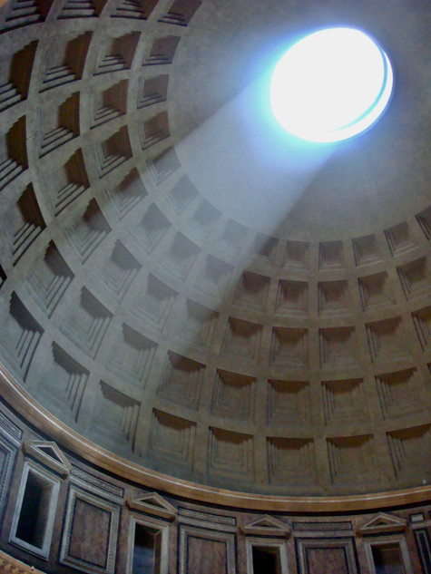 the eye of the pantheon. rome