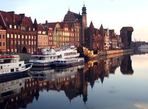 green bridge. gdansk