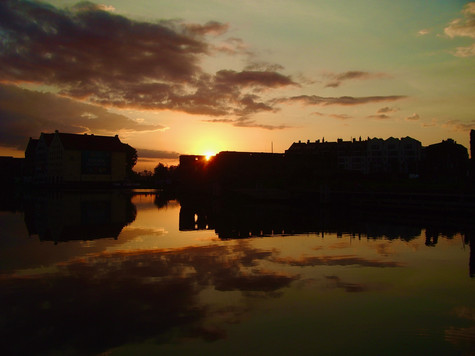 sunrise. gdansk