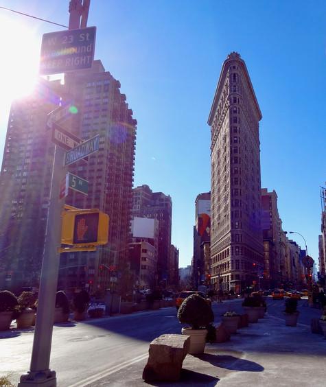 flat iron. new york city