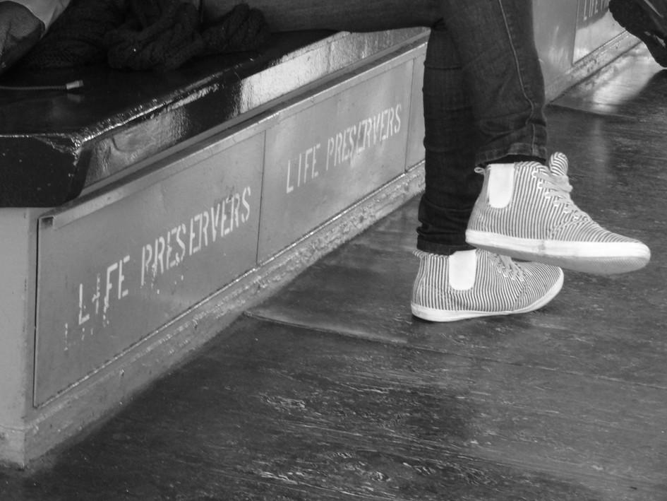 life preservers. staten island ferry, new york city