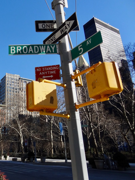 one way. new york city