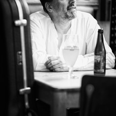 "Alain PIERRE ""Sitting in Some Café"" by Arnaud Ghys-2 BW WE"