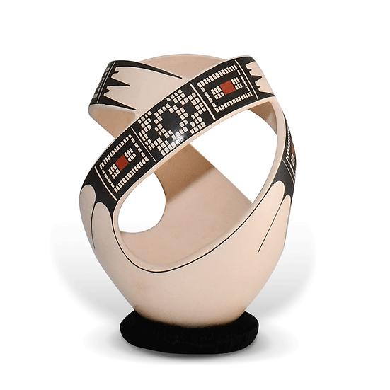 Vasija calada diseño geométrico chica