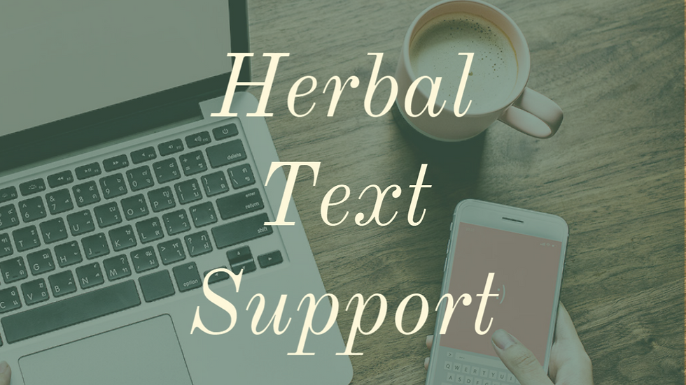Herbal Text Support