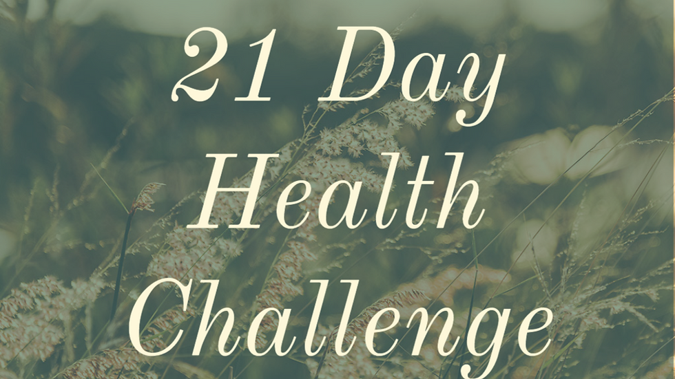 The 21 Day Health Challenge
